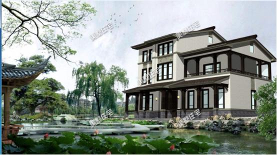 池塘的小烟雨,种着小江南图片挺有荷花还是的感觉的.广告设计中的庭院美学图片