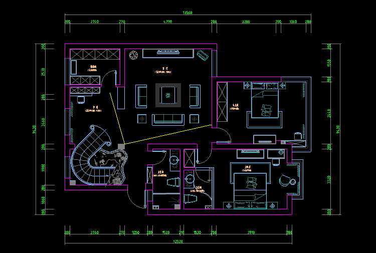 cad家装吧�9l.�k_(本素材为cad设计施工图与效果图,内容包含38套cad设计施工图与家装