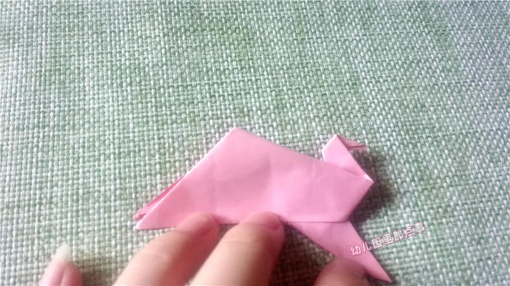 幼儿园亲子手工折纸diy之会动的孔雀