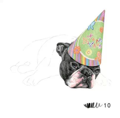教程| 教你用彩铅画可爱小狗