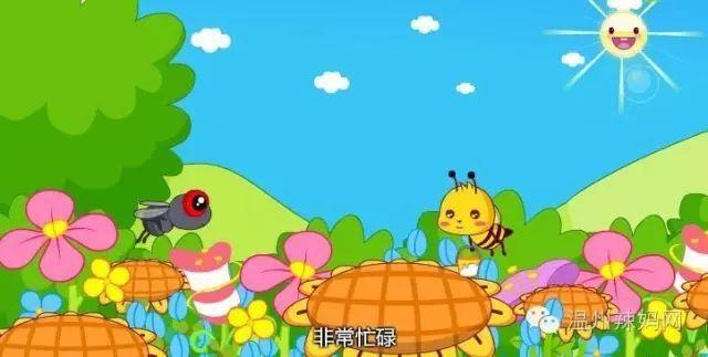蜜蜂正在花丛中采蜜,非常忙碌.图片