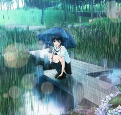 唯美图片雨伞头像