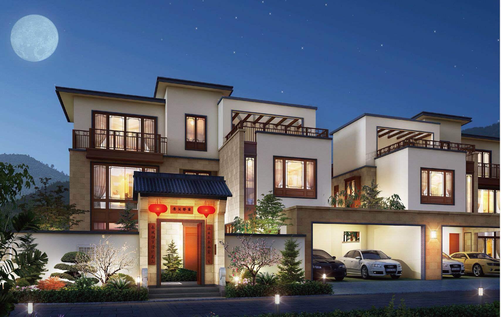 惠州别墅-方圆东江月岛楼盘,打造片区首个新中式合院别墅图片