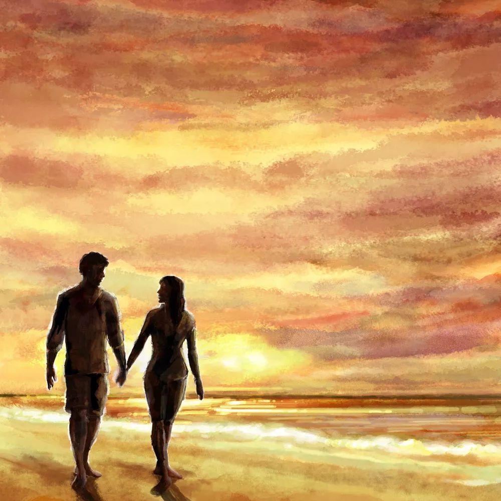 情侣手牵手图片只有脚