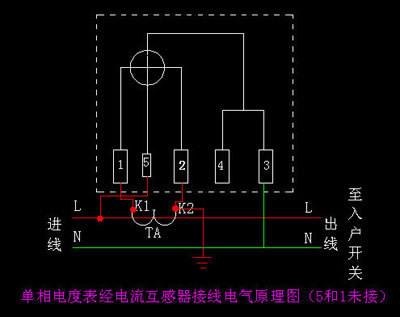 【家电安装】家用电表接线图, 单相电表怎么接线图解