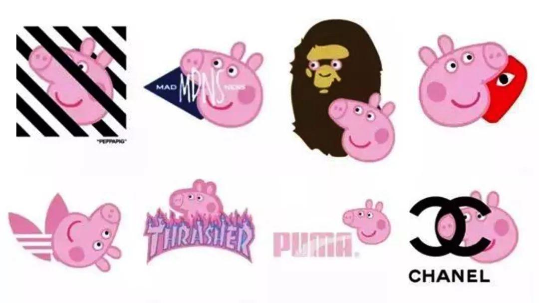 于是,他们把带着小猪佩奇纹身的手,伸向了各大奢侈品牌!图片