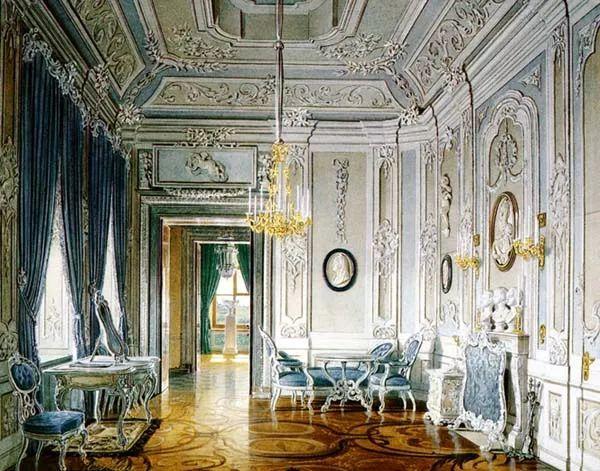 洛可可图形的室内设计风格标志设计说明图片