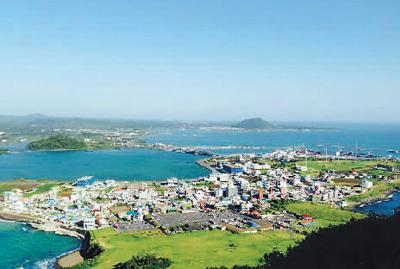 俯瞰济州岛