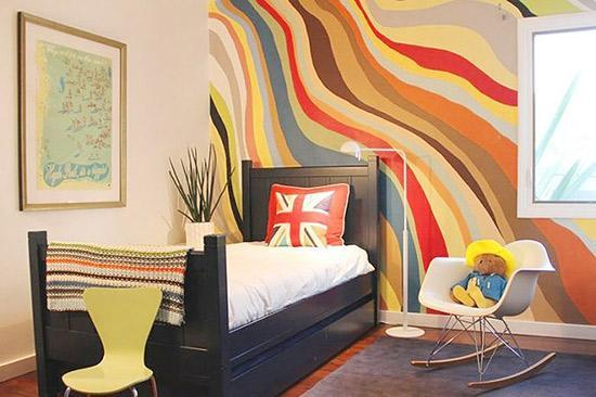 手绘墙让孩子的房间充满生机和活力