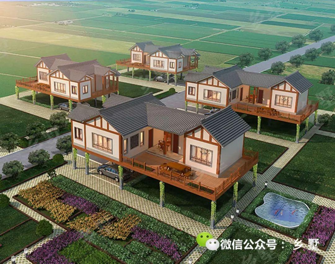 县的风吟晓筑(别墅版)主要参观农庄悬空,是一栋钢构用于的新中式样板上海十亿别墅图片