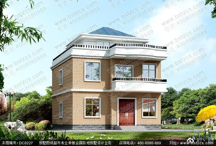 本款图纸为自建房设计_新农村二层半自建房设计效果图.