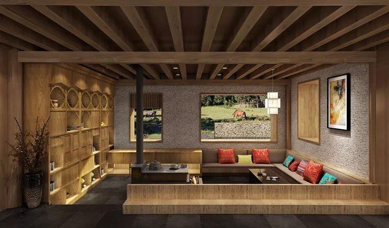 室内设计保留了安多藏族生活场景,比如藏家的火炉,是生活的社交的图片