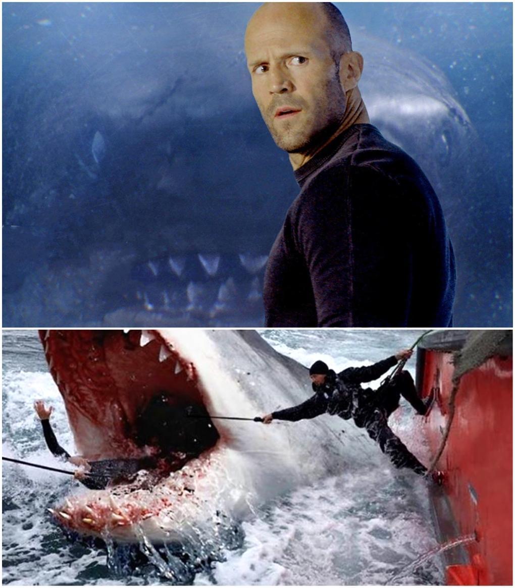 杰森斯坦森,李冰冰大战20米史前鲨鱼,《巨齿鲨》曝新画面图片图片