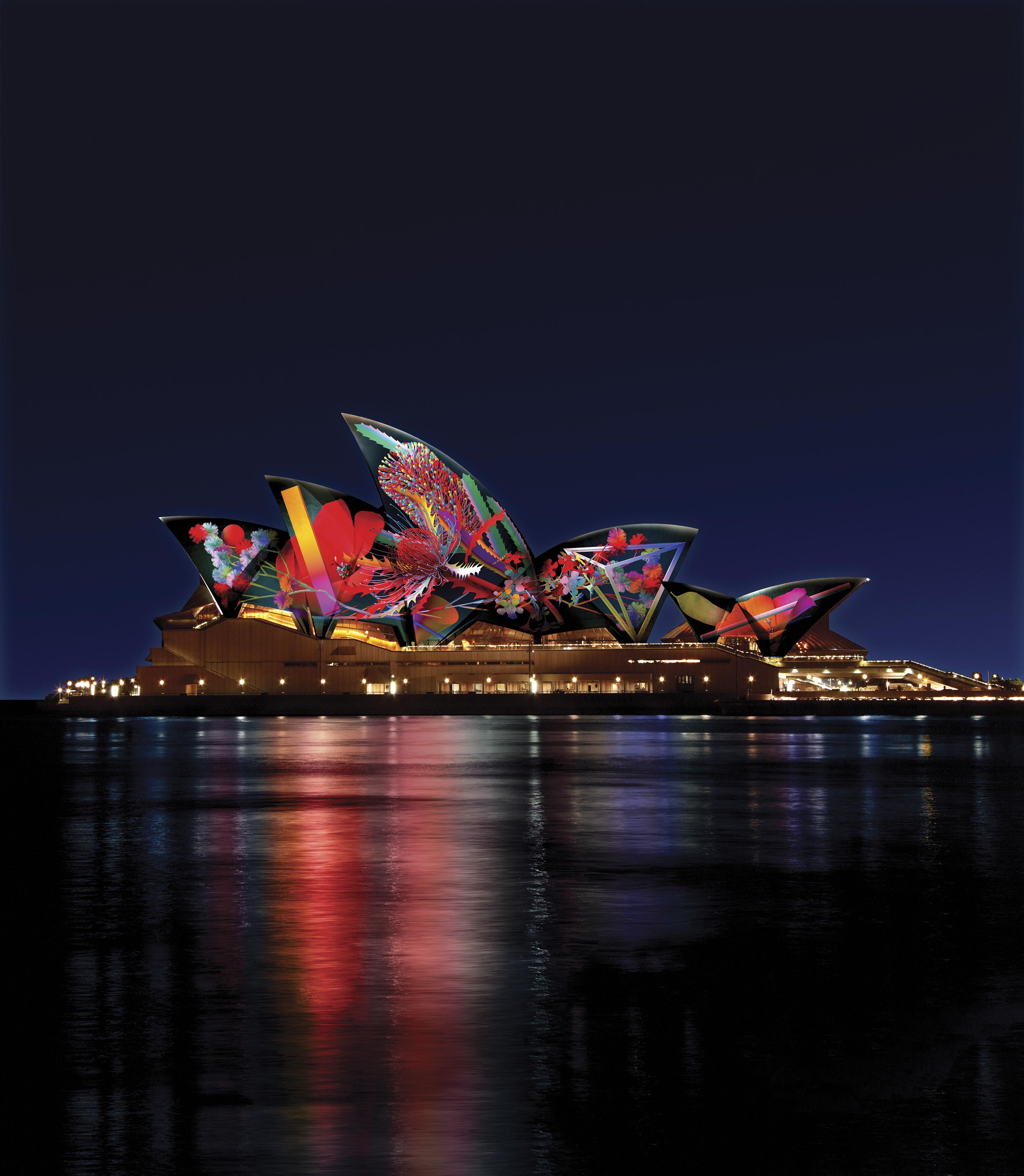 悉尼灯光音乐节:凝聚十年创意与创新,欢聚火树银花不夜天