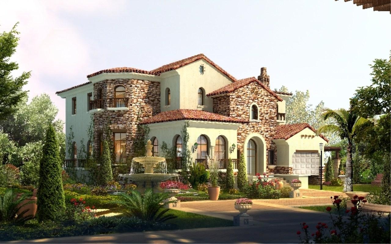 湛江小哥设计的农村别墅效果图,太靓了,真想拥有一幢