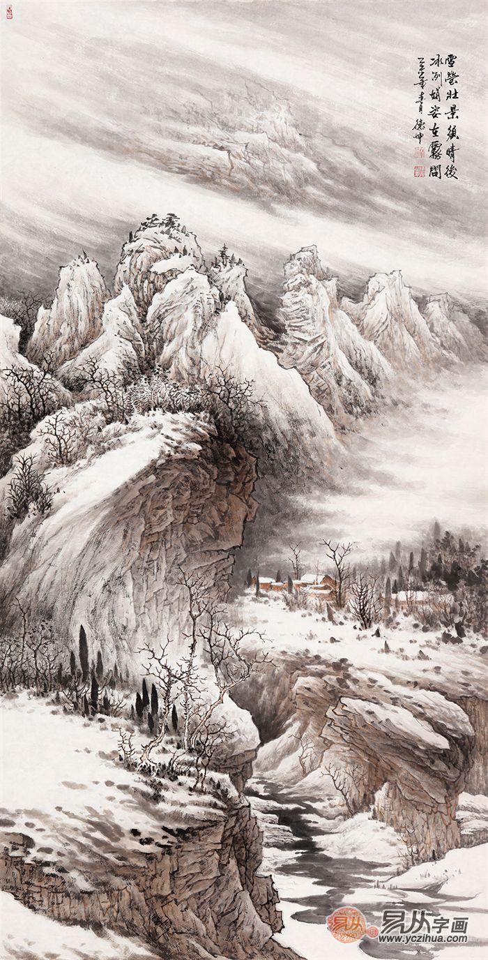 手绘国画艺术品·玄关山水国画系列!图片