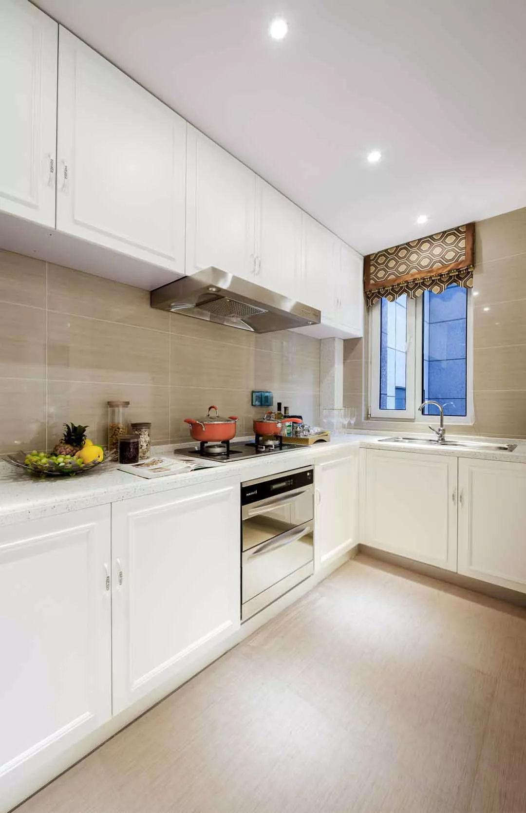 厨房石英石灶台面图片