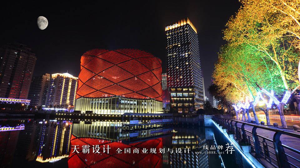 商业街设计夜景图大放送:知名商业街楚河汉街