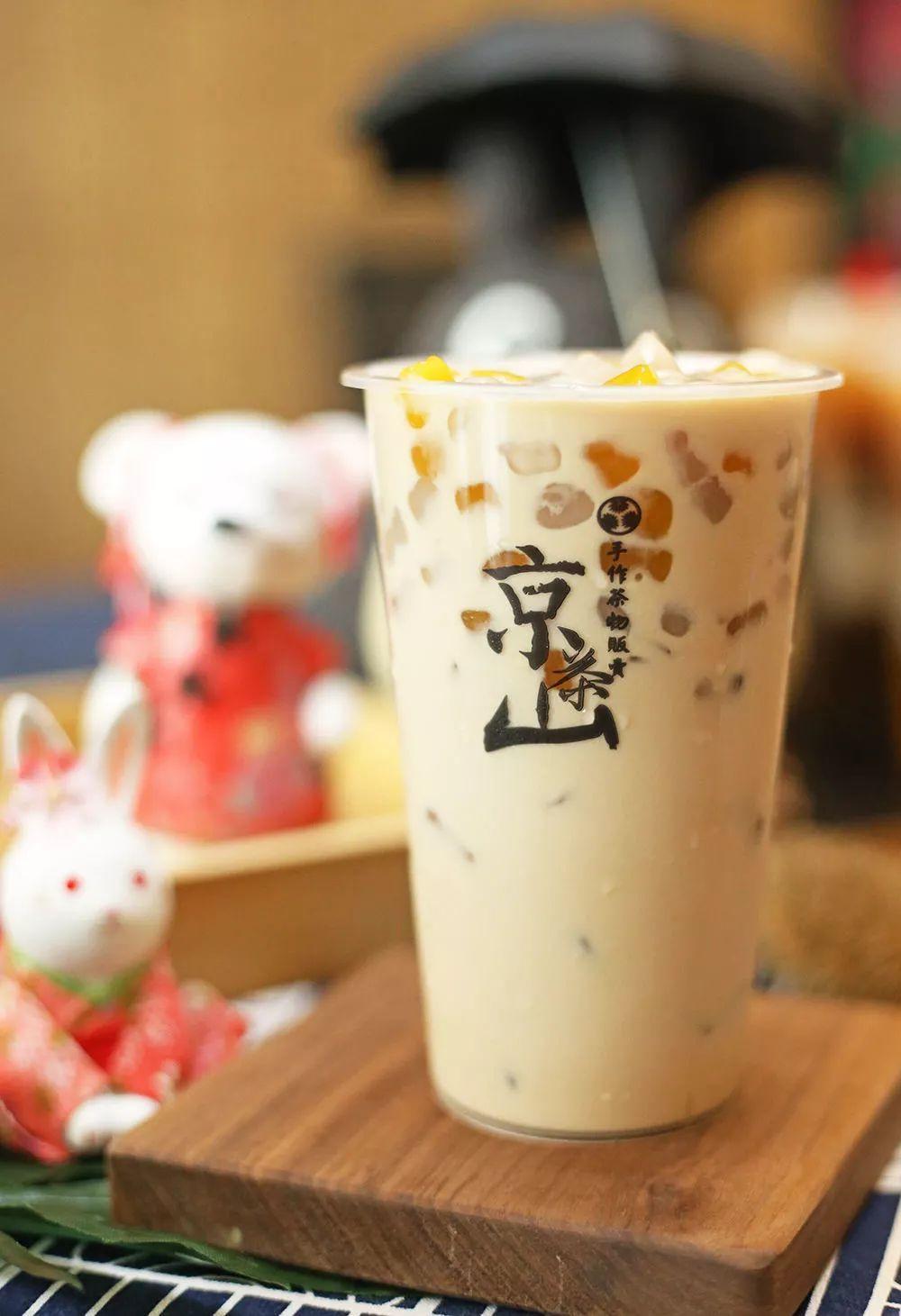 觅城鲜饮奶茶商标图片