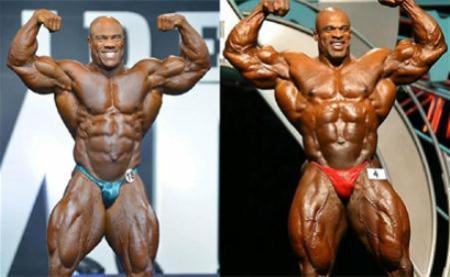 健美圈中菲尔西斯和罗尼库尔曼,奥赛7个展示动作,肌肉