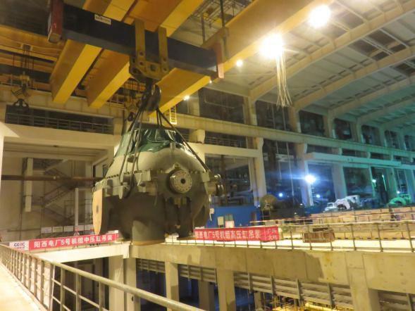 阳西电厂二期5,6号机组2×1024兆瓦工程燃煤机组汽轮发电机为世界最大