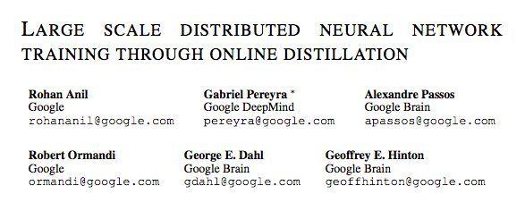 "Hinton胶囊网络后最新研究:用""在线蒸馏""训练大规模分布式神经网络"