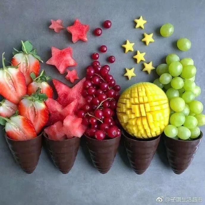 超有创意的水果摆盘!