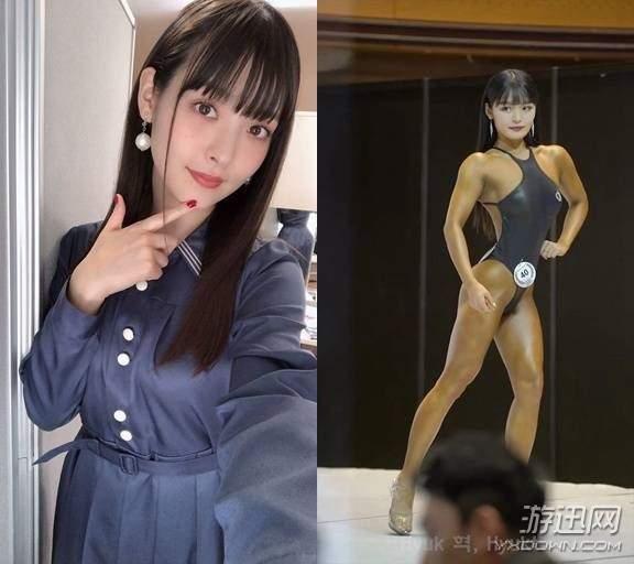美女男性色固!깢�_韩国肌肉美女长相酷似声优上坂堇 古铜色皮肤吸人眼球