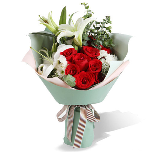 9支红玫瑰花束