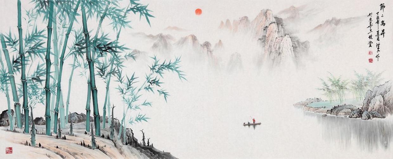 哪个画家擅长画竹子?画家刘海青青竹山水画图片
