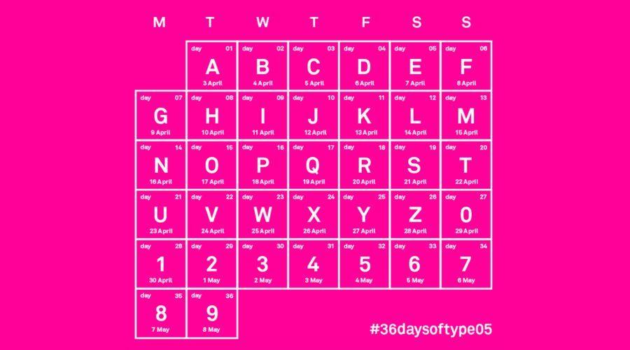 36天,36个字,36个创意,36种不同的风格!图片