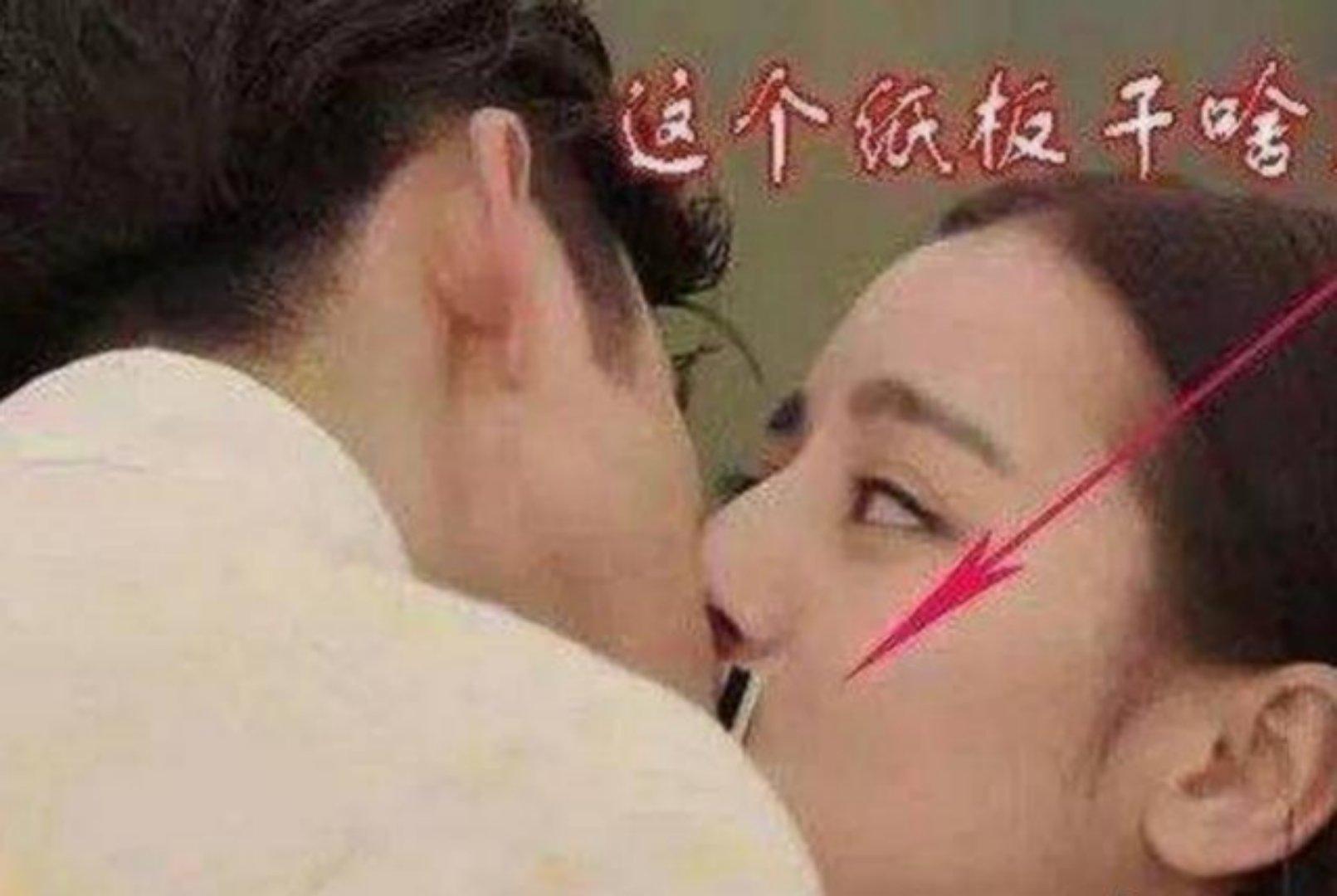 李易峰与迪丽热巴拍激烈吻戏,杨幂在一旁看呆了!_头条视频
