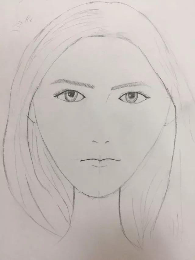 虽在在服装手绘中,脸部常常是被忽略的,但在绘画中,掌握脸部的比例