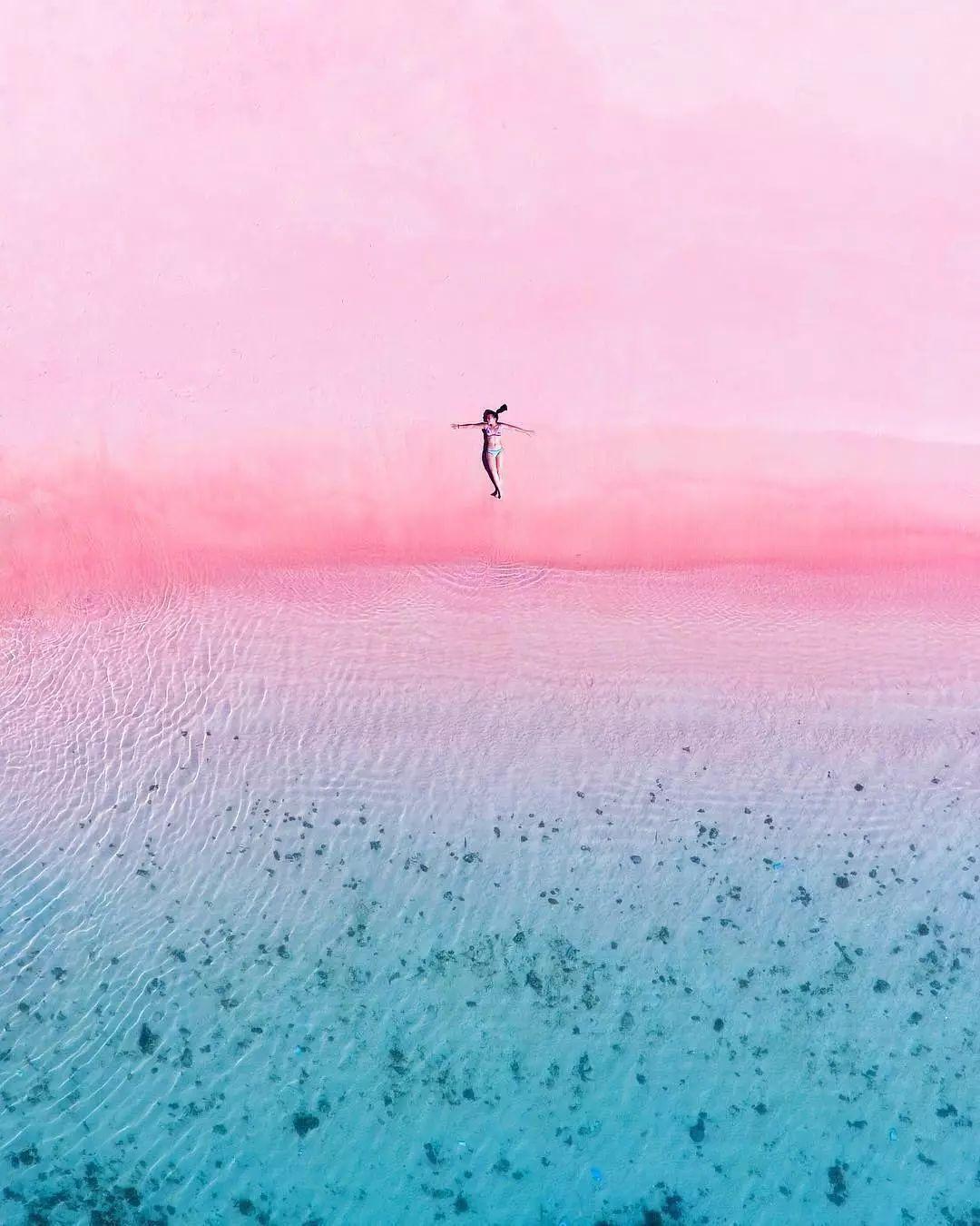 玫瑰海岸,粉色沙滩,人间天堂.少有人知的秘境海岛