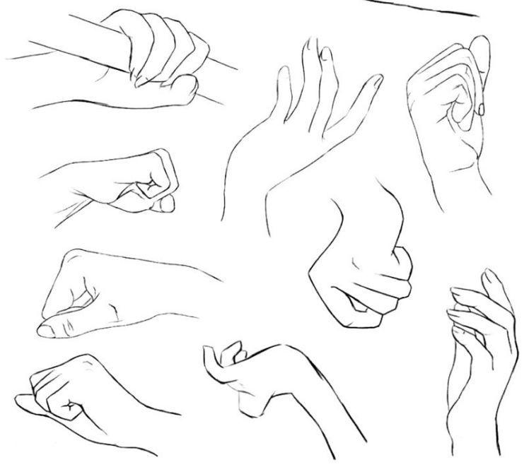 文化 正文  手背的绘制 人的手背上肌肉很少,因此表现起来主要在于图片