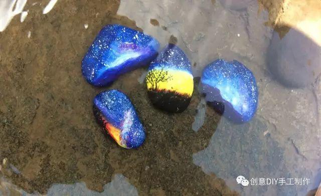 教你画创意星空石头画 3元微课