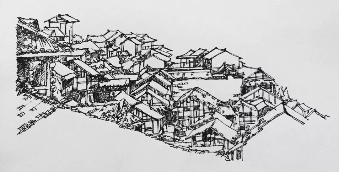 川美校园手绘结构图