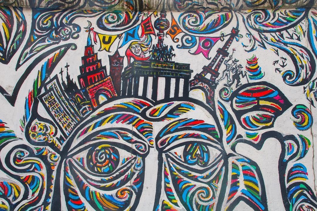 现代涂鸦人物壁画