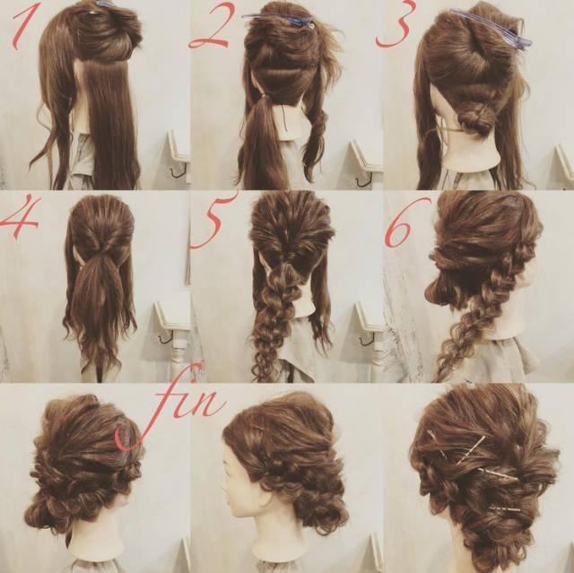 扎发很简单|新娘盘发图解教程