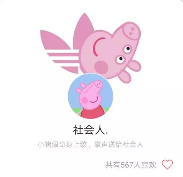 社会猪头像萌萌哒,掌声送给社会猪:佩奇