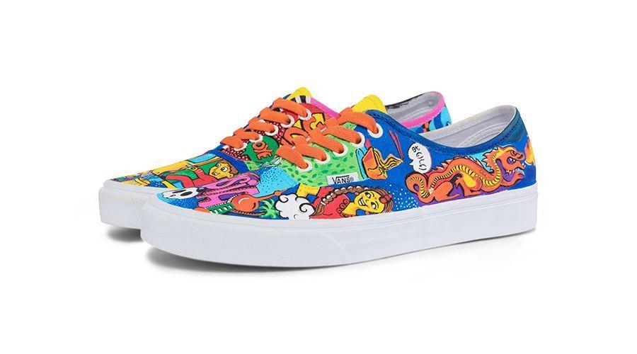 我的世界纳米鞋_有种骄傲叫做:全世界都在穿的Vans鞋,上面画着我的作品