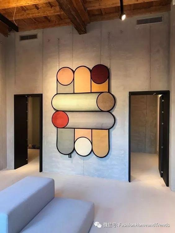 手绘圆圈墙面设计