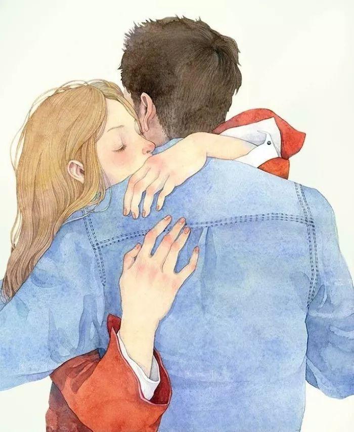 她哭着说好,站起来之后我给了她一个大大的拥抱,还拍了拍她的后背跟图片