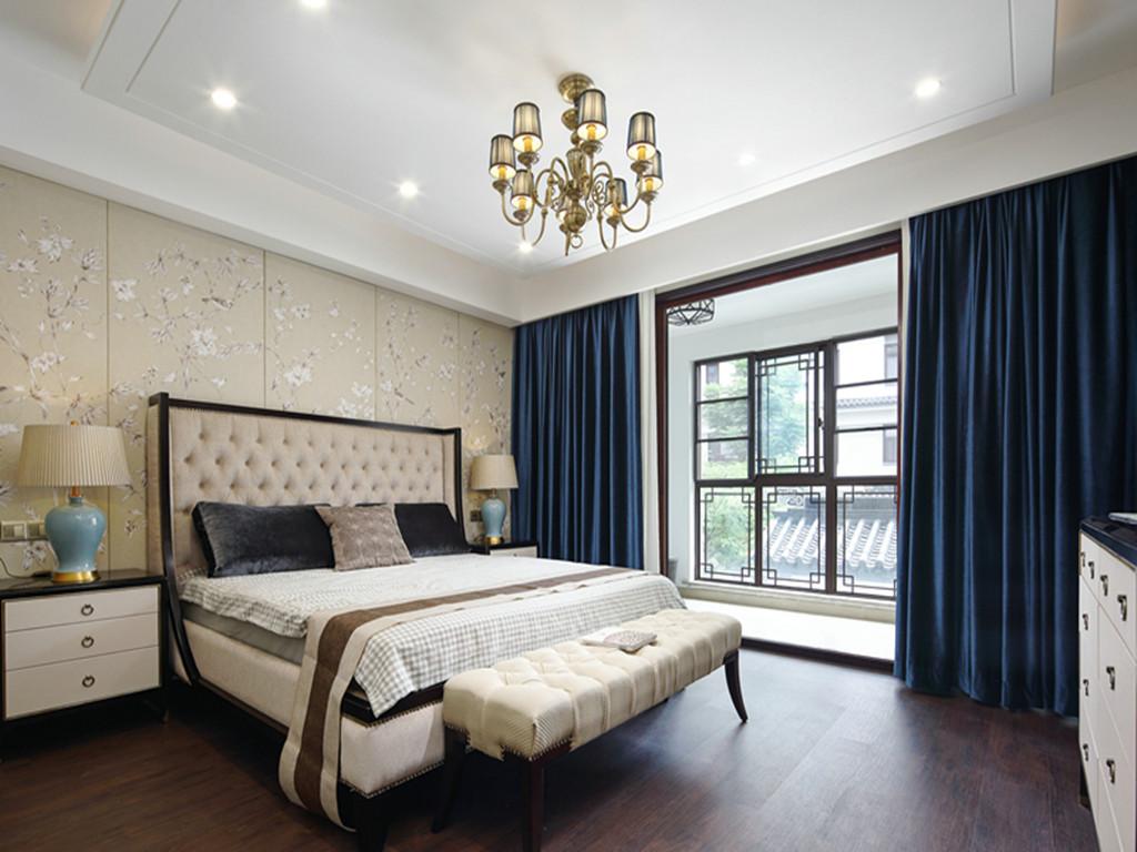 新中式卧室床头背景