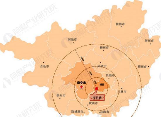 横县位于南宁市东部,与宾阳县,贵港市,钦州市的浦北,灵山县接壤,是北