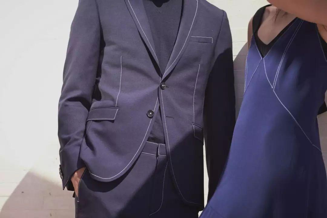 霍建华蓝色闲情西装