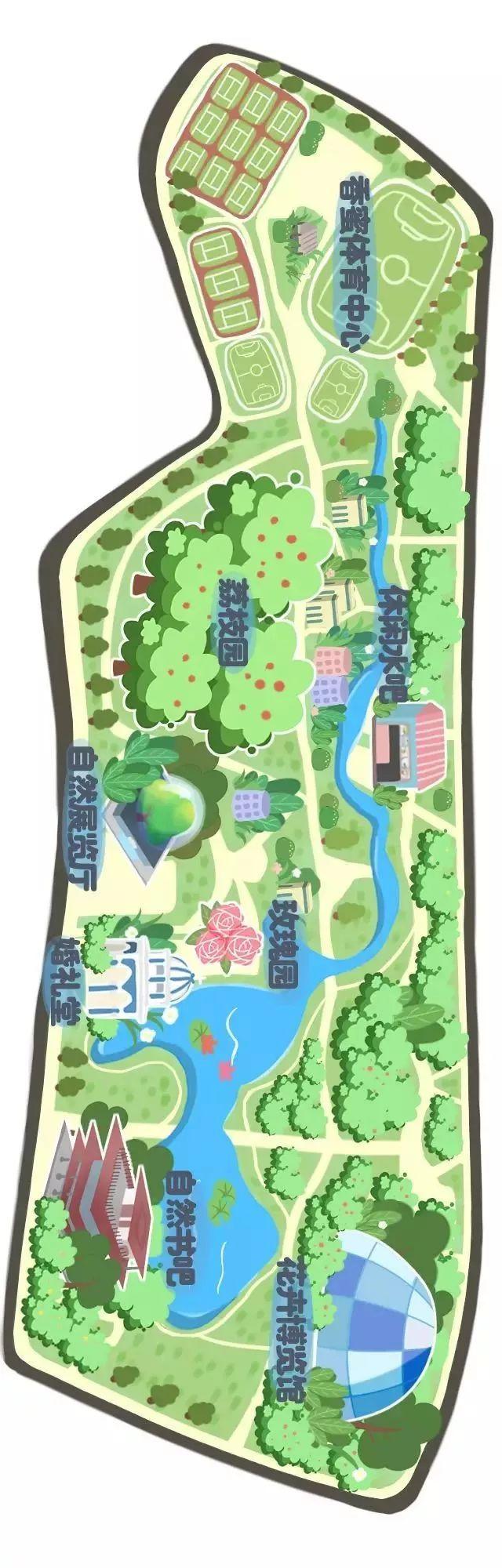 手绘版香蜜公园导览图!