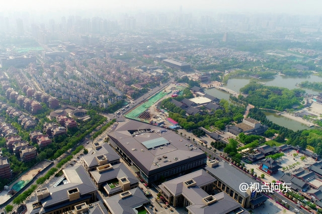 大唐芙蓉园航拍:曲江新区最耀眼的竟然是这东西 - 视点阿东 - 视点阿东
