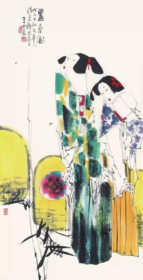水墨写意人物画,逐渐形成中国人物画的一个主要潮流.   作品特点1.