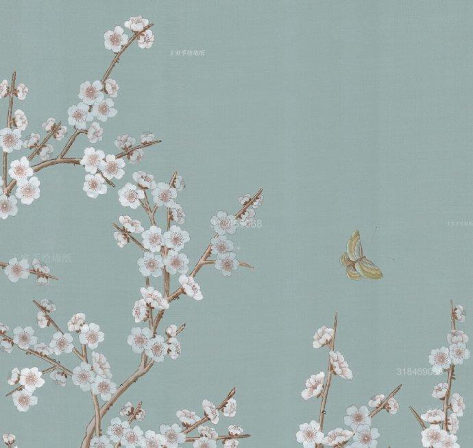 上海真丝手绘墙纸, 家居必备